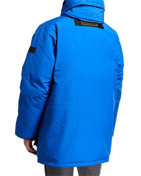Men's Expedition Hooded Parka Coat w/ Removable Fur Trim