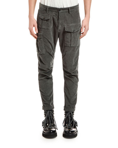 Men's Corduroy Cargo Pants