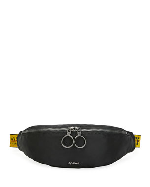 Off-White Men's Web-Strap Belt Bag/Fanny Pack