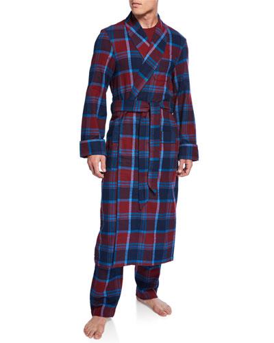 Men's Kelburn 7 Plaid Robe