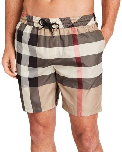 Men's Guildes Vintage Check Swim Shorts