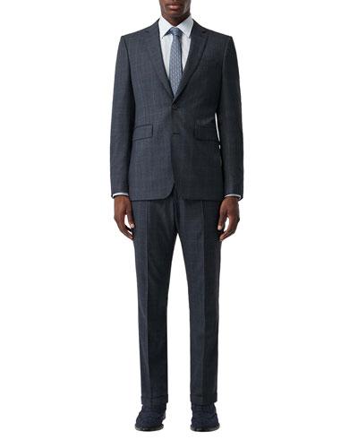 Men's Classic Two-Piece Wool Suit