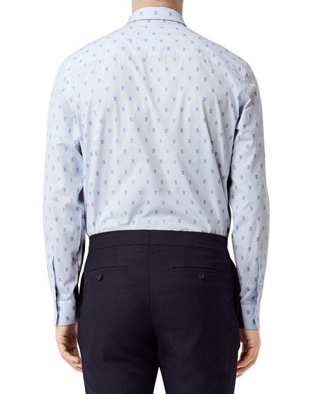 Men's Monogram-Print Sport Shirt