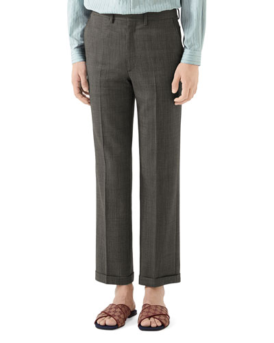 Men's Wool Pindot Trousers