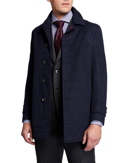 Men's Solid Cashmere Coat