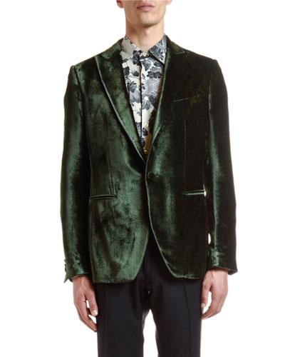 Men's Hidden Paisley Velvet Jacket
