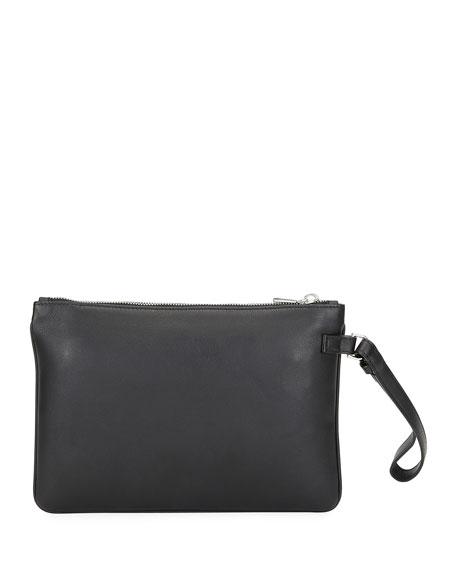 Men's Bex Leather Wristlet Pouch Bag
