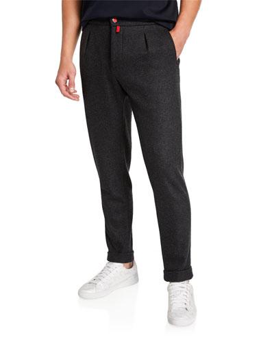 Men's Cashmere Jersey Jogger Pants