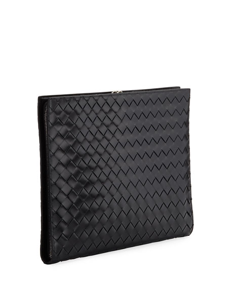 Men's Woven Leather Document Case