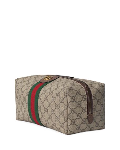 Men's GG Canvas Web Toiletry Bag