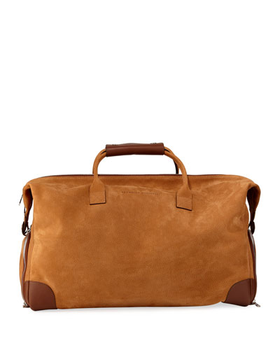 Men's Pebbled Leather Duffel Bag