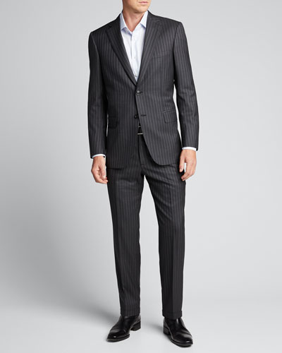 Men's Pinstriped Two-Piece Suit