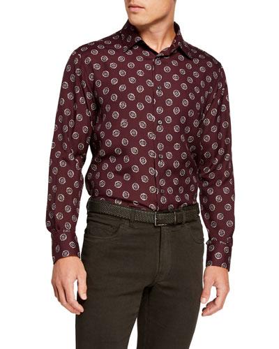 Men's Silk Medallions Sport Shirt