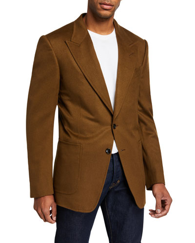 Men's Shelton Peak-Lapel Cashmere Jacket