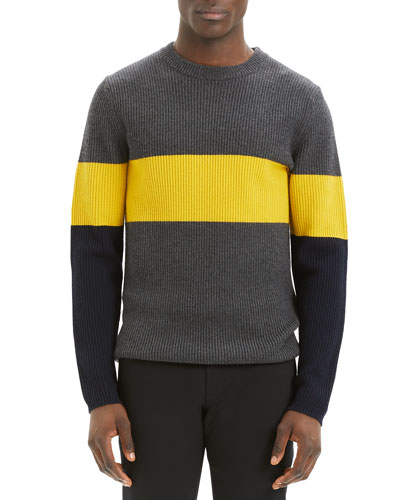 Men's Zoren Cashmere Wool Colorblock Sweater