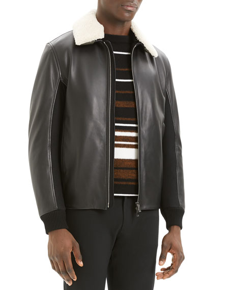 Men's Tyler Casse Lamb Leather & Shearling Jacket
