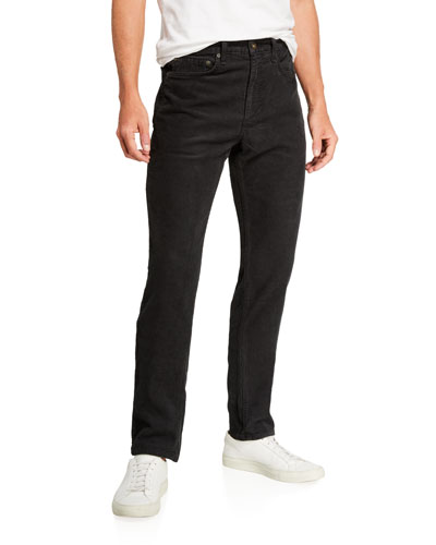 Men's Standard Issue Fit 2 Mid-Rise Relaxed Slim-Fit Corduroy Jeans  Worn Black