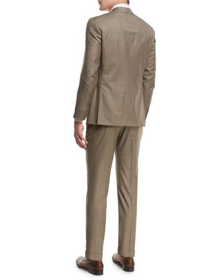 Solid Super 150s Wool Two-Piece Suit