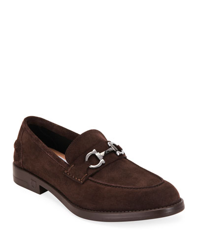 Men's Arlin Suede Gancini-Bit Loafers