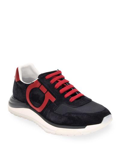 Men's Brooklyn Leather/Suede Gancio Sneakers