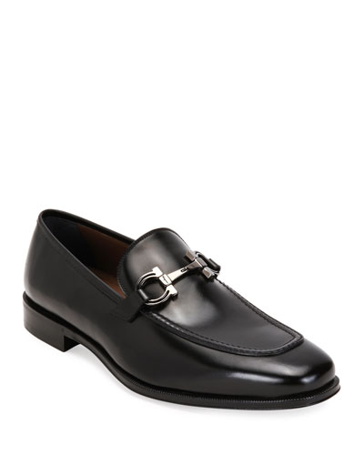 Men's Seattle Gancini-Bit Leather Loafers