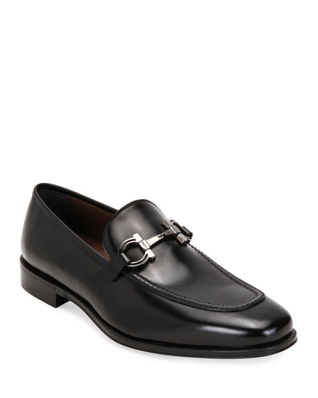 Men's Seattle Gancini-Bit Leather Loafers
