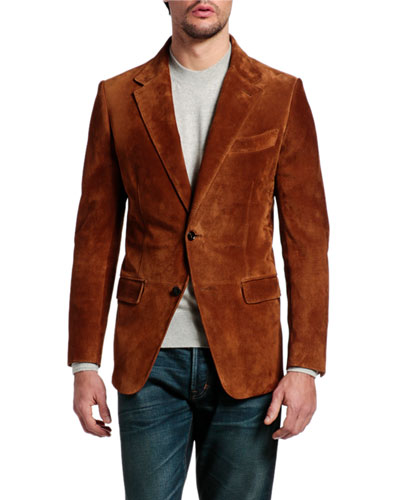 Men's Suede Blazer Jacket