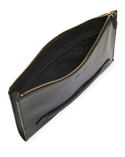 Men's Textured Leather Briefcase