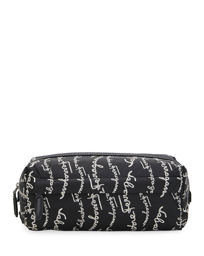 Men's Logo-Script Toiletry Bag
