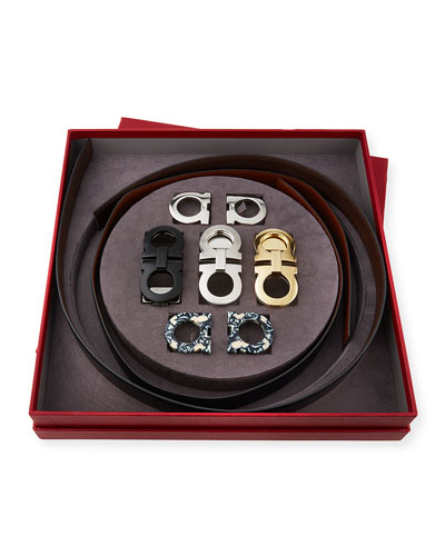 Men's Gancini Switch Seven-Piece Belt & Buckle Box Gift Set