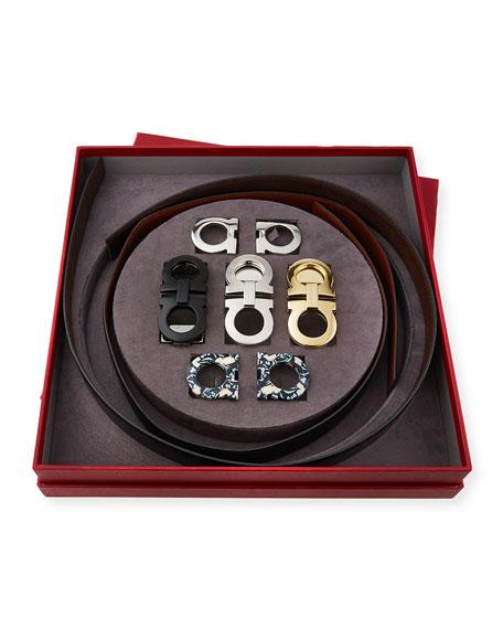 Men's Gancini Switch Seven-Piece Belt & Buckle Box Gift Set