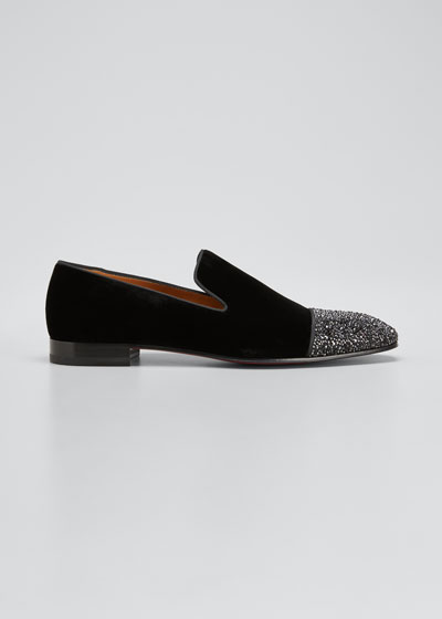 Men's Dandelion Velvet Strass Venetian Loafers