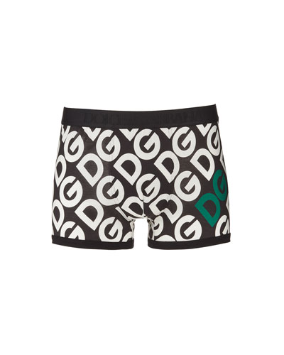 Men's Logo-Print Regular Boxers