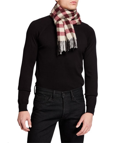 Men's Vigo Lambswool-Cashmere Colorblock Scarf