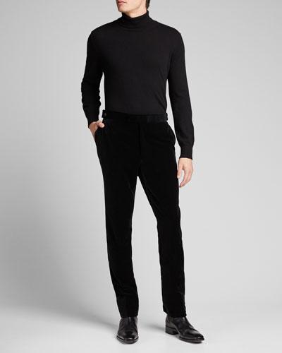 Men's Gregory Straight-Leg Velvet Pants