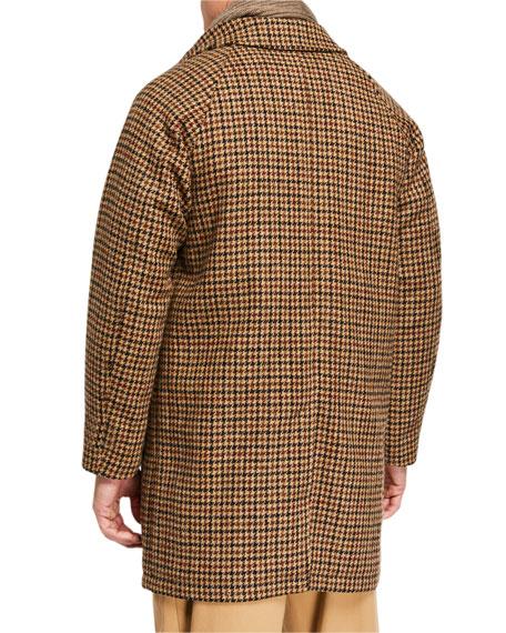 Men's Harris Houndstooth Tweed Raglan Overcoat