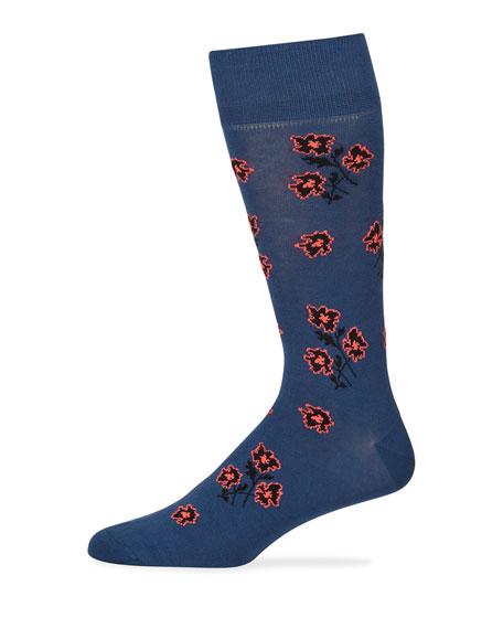 Men's Petunia Floral Socks