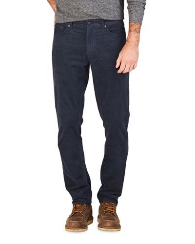 Men's Stretch-Corduroy 5-Pocket Pants  Navy