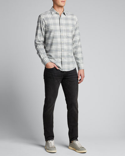 Men's Flannel Stretch-Cotton Sport Shirt