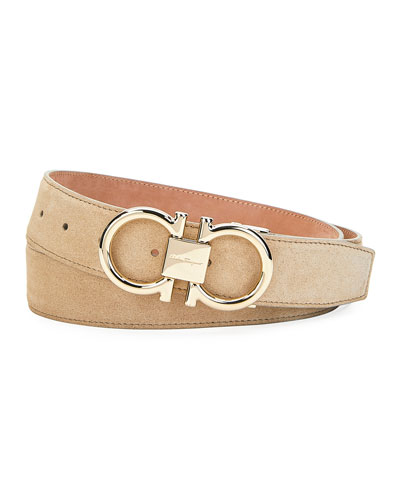 Men's Gancini Suede Belt