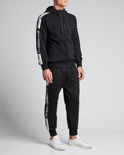 Men's Logo-Taping Jogger Pants