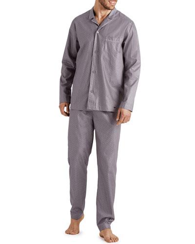 Men's Maxim Pin-Dot Cotton Pajama Set