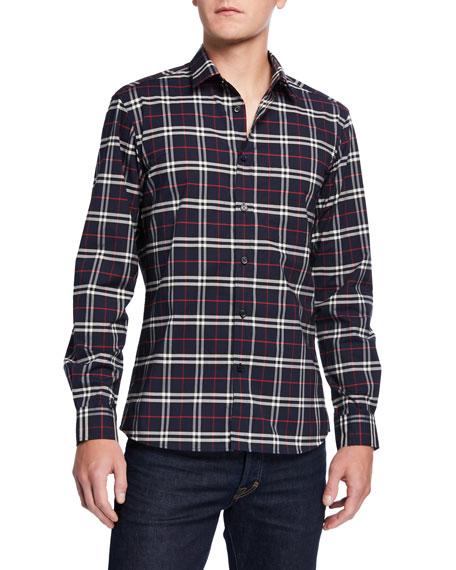 Men's Simpson Check-Pattern Sport Shirt