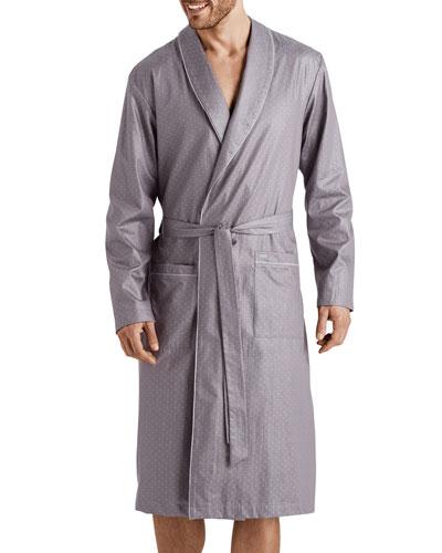 Men's Maxim Pin-Dot Cotton Robe