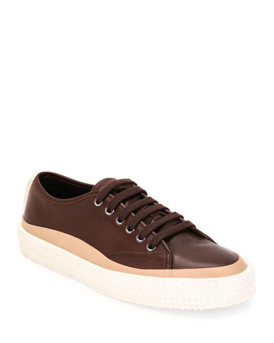 Men's Storm Leather Woven-Sole Sneakers