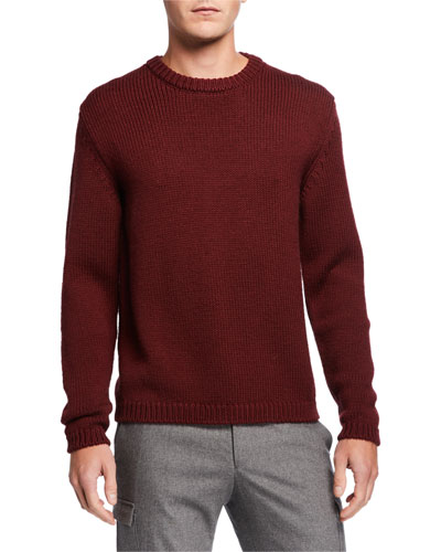 Men's Crewneck Wool/Alpaca Sweater