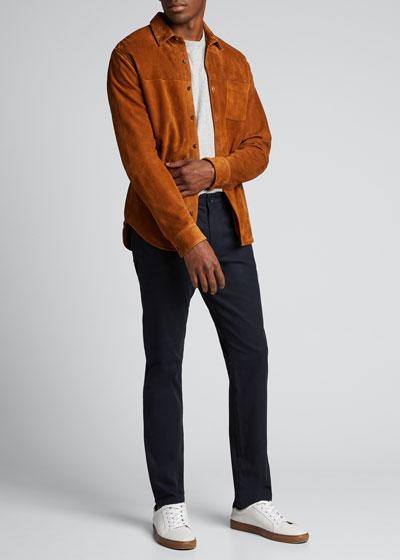 Men's Goat Suede Shirt Jacket