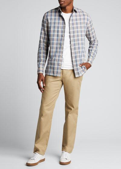 Men's Tartan Plaid Sport Shirt