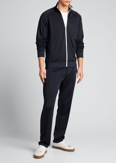 Men's Striped-Trim Track Jacket