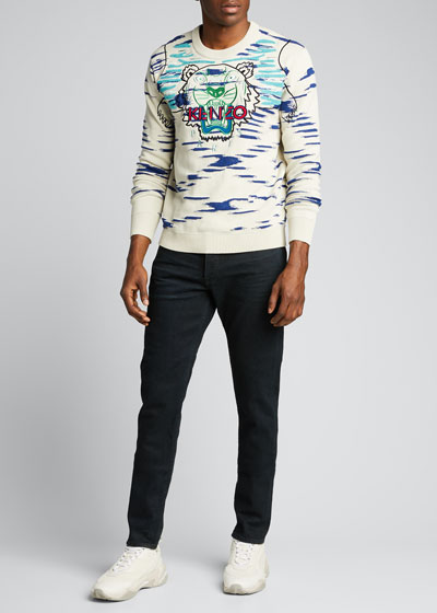 Men's Embroidered Tiger Sweater